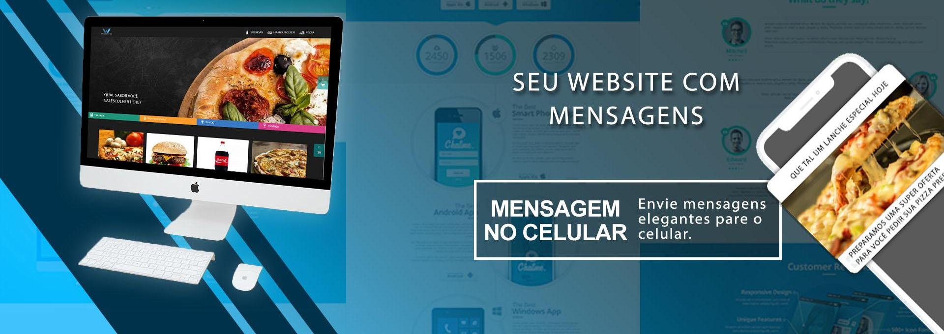 Seu website com mensagens