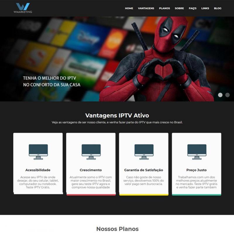 WEBSITE PARA VENDA DE IPTV
